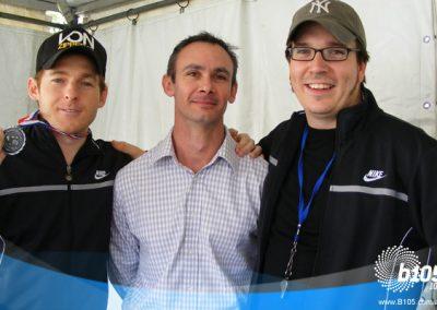 Labrat and Stav with sports hypnotist Stuart Walter.