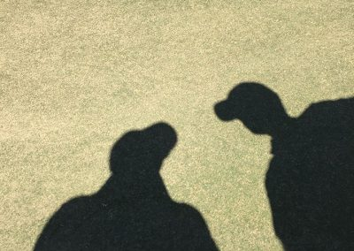 The Athlete's Secret Weapon, on site, coaching a professional golfer